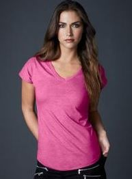 Womens Tri-Blend V-Neck Tee - Anvil