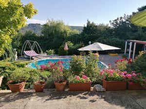 Ein Spätsommertraum 10min bis Wien: tolle Privatsphäre, uneinsichtig, ruhig, grün, Ausblick, Pool, 4 Zimmer, großer Eigengrund
