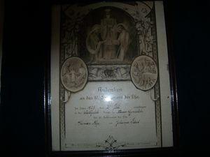 Andenken an das hl. Sakrament der Ehe, 1925