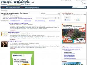Veranstaltungskalender.net mit neuen Funktionen Online