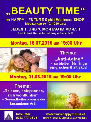 """BEAUTY TIME"" im HAPPY - FUTURE Spirit-Wellness SHOP"