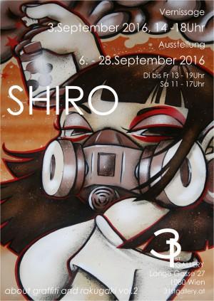 SHIRO - about graffiti and rakugaki vol.2 - Ausstellung