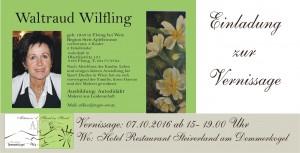 Einladung zur Vernissage Waltraud Wilfling