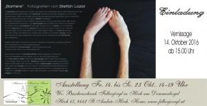 Einladung zur Vernissage von Stefan Lozar