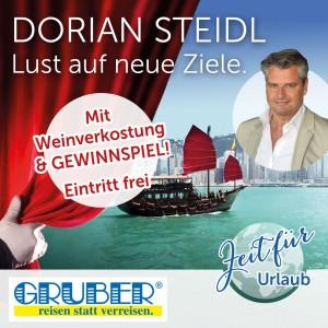 GRUBER-reisen Reiseabend in Spielberg mit Dorian Steidl