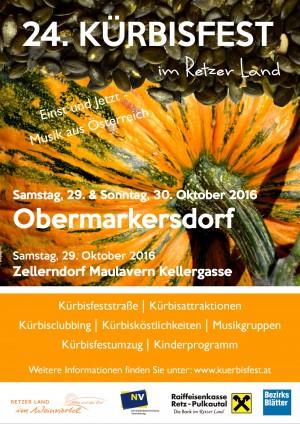 24. Kürbisfest im Retzer Land - in Obermarkersdorf