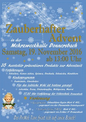 ZAUBERHAFTER ADVENT in Donnersbach