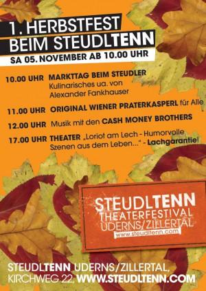 Herbstfest mit Kultur beim Steudltenn am 5. November