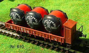 Nr. 610 LIMA Güterwagen Silos, 2 achsig,
