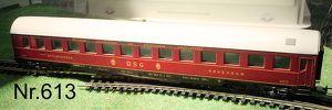 Nr. 613  LIMA Modellbahn HO Schnellzug Schlafwagen DSG, rot,