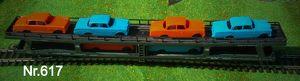 Nr. 617 LIMA Autotransporter H0, 2 Decks, 4achsig, 6 Autos,