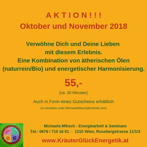 Aktion Oktober-November 2018 !