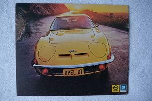 Opel GT Original Prospekte