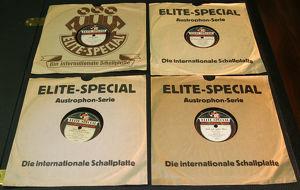 Schellackplatten Elite-Special Austrophon-Serie