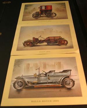 Zeichnungen histor. Fahrzeuge