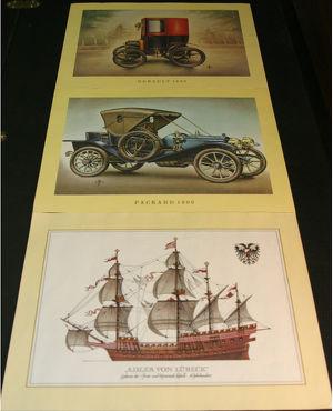 Zeichnungen histor. Fahrzeuge/Schiffe