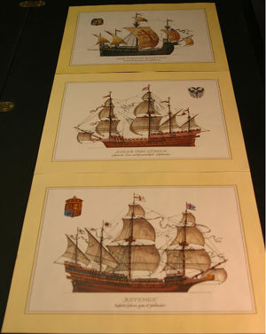 Zeichnungen histor. Schiffe