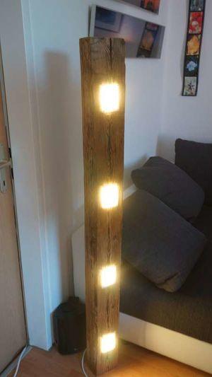 Unikat Altholz Standlampe oder Hängelampe Holz Led Designerlampe (Einzelstück)