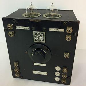Telefunkon C - D-Zug, Telefunken, 2x Röhre RE11