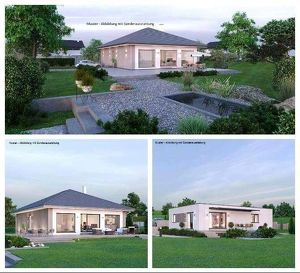 Sie haben bereits ein Grundstück-Schöner ELK-Bungalow für Ihr Grundstück (104m² & 120m² möglich)