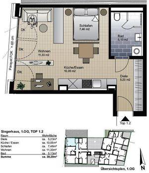 1-Zimmer Wohnung-  Kufstein Zentrum ca. 39.20m2.