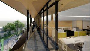 ZUKUNFTSPARK+   Penthouse-Büro samt Balkon - nach Ihren Wünschen gestaltbar - in Tulln zu vermieten - Erweiterungsmöglichkeit gegeben