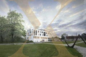 Neubauprojekt - Am Schlosspark Traun - Flexible Geschäfts-/Büroeinheiten zu Kaufen (zB Geschäftslokal mit 209,63m²)