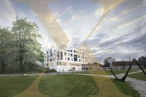 Neubauprojekt - Am Schlosspark Traun - Flexible Geschäfts-/Büroeinheiten zu Kaufen (zB Geschäftslokal mit 76,46m²)