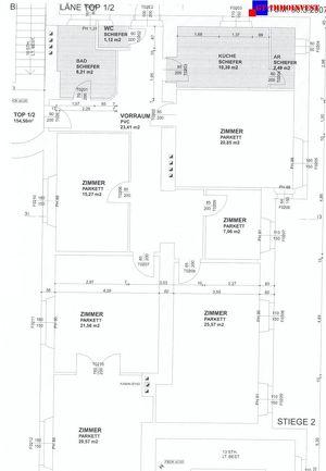 Eisenstadt Zentrumsnähe! Schöne 154m2 Büro-, Praxis- bzw. Ordinationsräumlichkeiten mit 5 Zimmern!