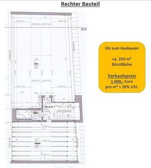 Bürofläche DG zum Ausbauen zu 1. Obergeschoss Rechter Bauteil zu verkaufen - im Zentrum von Vöcklabruck