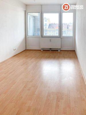 3- Zimmer Wohnung inkl. Küche und großzügiger Loggia im Linzer Zentrum
