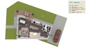 5 Zimmer Ziegelmassivhaus mit Eigengarten und Dachterrasse, vollunterkellert, Abstellplatz, Provisionsfrei - HAUS 1