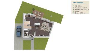 PROVISIONSFREI: Haus mit 133m² Garten und 50m² Dachterrasse, 123m² WFL, 5 Zimmer, vollunterkellert, Dachterrasse, Abstellplatz - HAUS 2