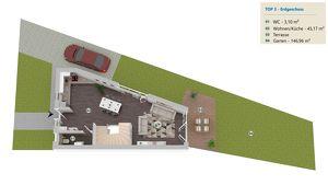 PROVISIONSFREI: Doppelhaushälfte mit 147m² Eigengarten, 5 Zimmer, 119m² WFL, vollunterkellert, 2 Dachterrassen, Abstellplatz - Haus 3
