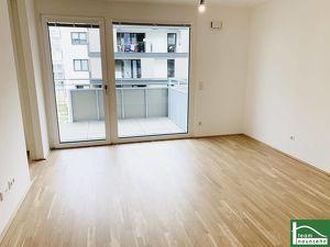 WOHNEN AM DONAUKANAL - Erstklassige 2-Zimmer-Wohnung mit großzügigen Freiflächen inkl. Einbauküche - NÄHE U3!