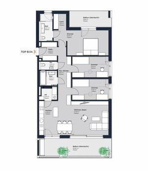Wohntraum in grünem Achau - perfekt aufgeteilte 4 Zimmer mit zwei Balkons. Erstbezug in Achau