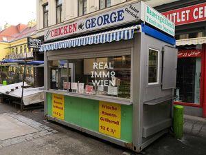 Brunnenmarkt / Grillhendl-Stand / Verkaufscontainer