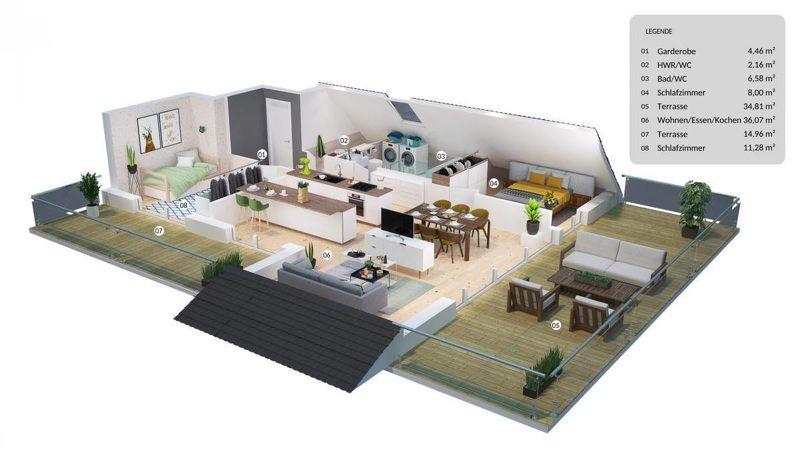 Top Dachgeschosswohnung mit 2 großen Terrassen