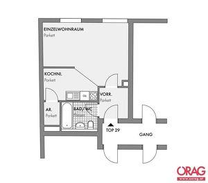 Schöne, 1 Zimmer Single Wohnung befristet zu mieten in 1180 Wien
