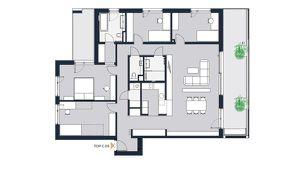 Familientraum für Anspruchsvolle - 5-Zimmer Wohnung mit zwei Balkone. Erstbezug in Achau