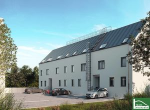 Reihenhaus Neubauprojekt - Erstbezug - Innenhoflage - optimale Raumaufteilung - südlich vor den Toren Wiens - Pkw-Stellplätze