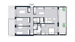 Moderne lichtdurchflutete 4-Zimmer Wohnung mit großzügigen Freiflächen und perfektem Grundriss. Erstbezug in Achau