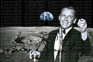 """FRANK SINATRA """"Fly Me to the Moon"""" NASA-Souvenir. Einmalig! Kunstdruck. 45x28 cm. Geschenk. Andenken. Sammlerstück."""