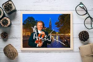 André Rieu Kunstdruck 45x30 cm. Souvenir. Geschenk. Andenken. Sammlerstück. BRANDNEU!