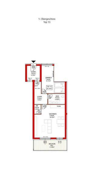 IN PLANUNG - NEUES BAUVORHABEN IM ZENTRUM VON RANSHOFEN (OÖ) - 2 Zimmer-Wohnung mit Balkon!