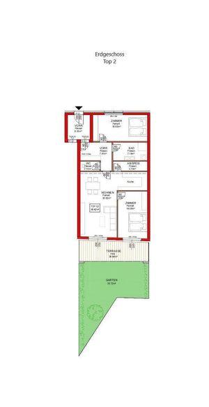 IN PLANUNG - NEUES BAUVORHABEN IM ZENTRUM VON RANSHOFEN (OÖ) 3-Zimmer-Garten-Wohnung mit Terrasse!