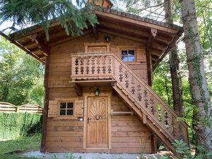 Holz Blockhaus Hütte - für Ski - Alm - Garten - Golfplatz - See - INKLUSIVE Inneneinrichtung