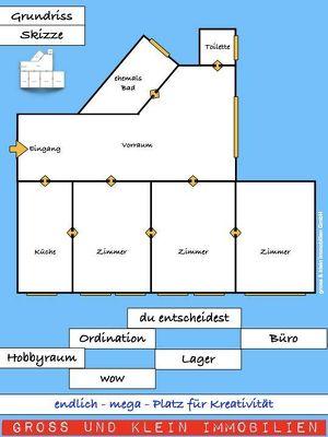 Büro, Ordination, Hobbyraum, Atelier oder  Lager -  auf alle Fälle g r o s s z ü g i g und preislich fai
