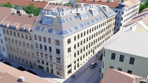 EINZIGARTIG in WIEN - exklusive Dachgeschosswohnung mit hofseitiger Terrasse in wunderschönem Gründerzeithaus  komplett auf einer EBENE  