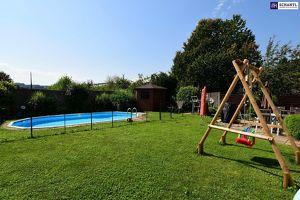 FÜR DIE GANZE FAMILIE! Mit 554 m² Grundstück + 312 m² Nutzfläche (inkl. Keller) auf 3 Etagen! Mit riesigem Garten - INKLUSIVE Pool!